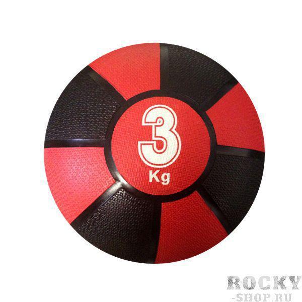 Купить Медицинбол 3 кг NC sports 22 см черно-красный (арт. 132)