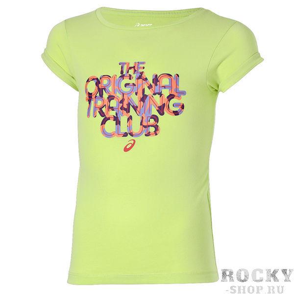 ASICS 130916 0423 GIRLS SS TOP JR 13/14 Футболка детская AsicsФутболки / Майки / Поло<br>Футболка ASICS 130916 0423 GIRLS SS TOP JR 13/14 (158-164)•Стильная, приятная на ощупь детская футболка от ASICS.•Привлекательный яркий принт «THE ORIGINAL TRAINING CLUB».•Комфортный дышащий хлопковый материал.•Свободная горловина позволит без проблем одеть футболку, не стесняя движений.•Футболка рассчитана на подростка в возрасте 13-14 лет или ростом 158-164 см.<br>