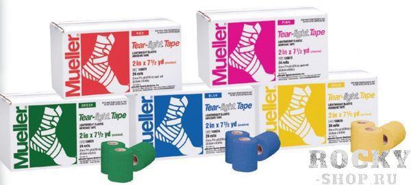 MUELLER 130681 TEAR LIGHT TAPE 5,0 x 6,9 m Тейп (красный) MuellerТейпы<br>Тейп MUELLER  предназначен для фиксации или поддержки суставов в различных видах спорта. Данная модель отличается перфорированной структурой, необходимой для лучшей вентиляции кожи, а также высокой прочностью нитей. Клейкое вещество нанесено на тейп с промежутками для усиления дышащего эффекта. Лента равномерно разматывается, обладает высокой прочностью на продольный разрыв, при этом легко отрывается поперёк.<br>