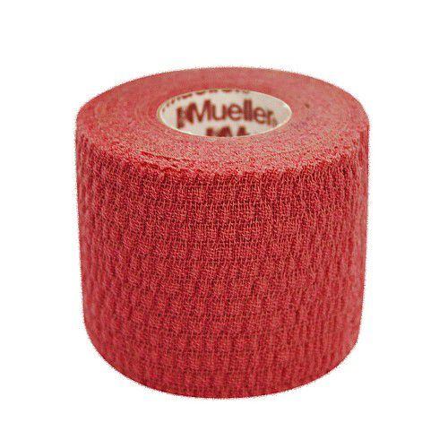 MUELLER 130681 TEAR LIGHT TAPE 5,0 x 6,9 m (коробка 24 шт.) Тейп (красный) MuellerТейпы<br>Тейп MUELLER  предназначен для фиксации или поддержки суставов в различных видах спорта. Данная модель отличается перфорированной структурой, необходимой для лучшей вентиляции кожи, а также высокой прочностью нитей. Клейкое вещество нанесено на тейп с промежутками для усиления дышащего эффекта. Лента равномерно разматывается, обладает высокой прочностью на продольный разрыв, при этом легко отрывается поперёк.<br>