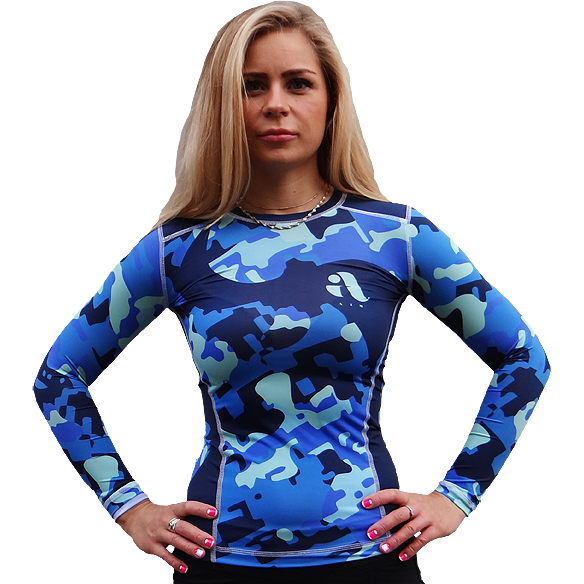 Женский рашгард Aim Military Uniqueness Skin Blue