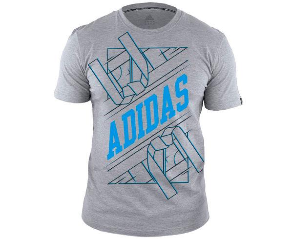Футболка Graphic Tee Belt, серо-голубая AdidasФутболки<br>Стильная футболка от Adidas с короткими рукавами выполнена из 100% хлопка. Отлично подойдет как для занятий спортом, так и на каждый день. Натуральный материал отлично пропускает воздух и впитывает влагу, тем самым, обеспечивая комфорт.<br><br>Размер INT: S