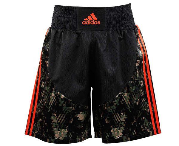 Шорты боксерские Micro Diamond Multi Boxing Short, черно-камуфляжные Adidas