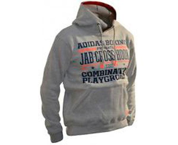 Толстовка с капюшоном (Худи) Graphic Hoody Slogan Boxing, серая AdidasТолстовки / Олимпийки<br><br><br>Размер INT: L
