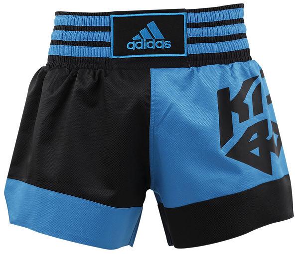 Шорты для кикбоксинга Micro Diamond Kick Boxing Short, сине-черные Adidas