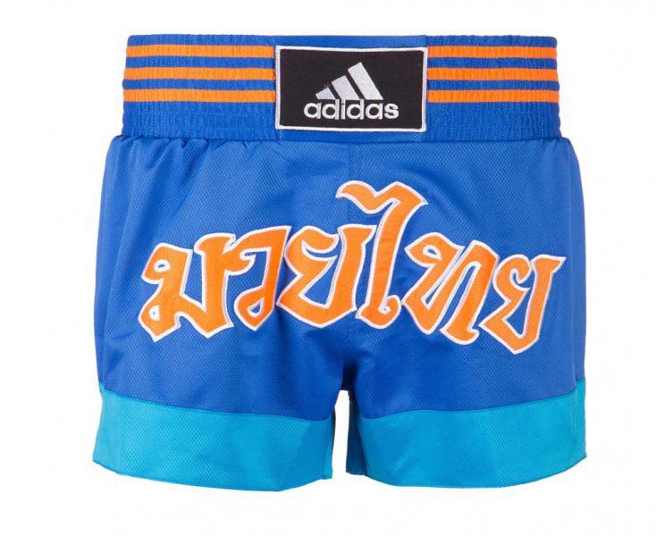 Купить Шорты для тайского бокса Thai Boxing Short Sublimated Adidas сине-оранжевые (арт. 13454)