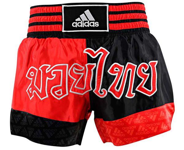 Купить Шорты для тайского бокса Thai Boxing Short Sublimated Adidas красно-черные (арт. 13455)