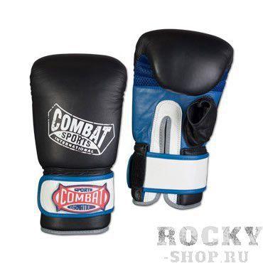 Купить Перчатки для тайского бокса тренировочные, липучка Combat чёрный (арт. 13486)