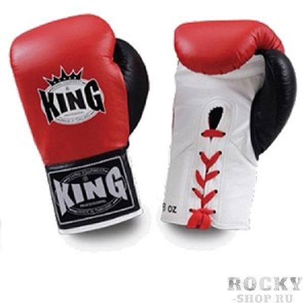Купить Перчатки для тайского бокса соревновательные, шнурки King 10 oz (арт. 13488)
