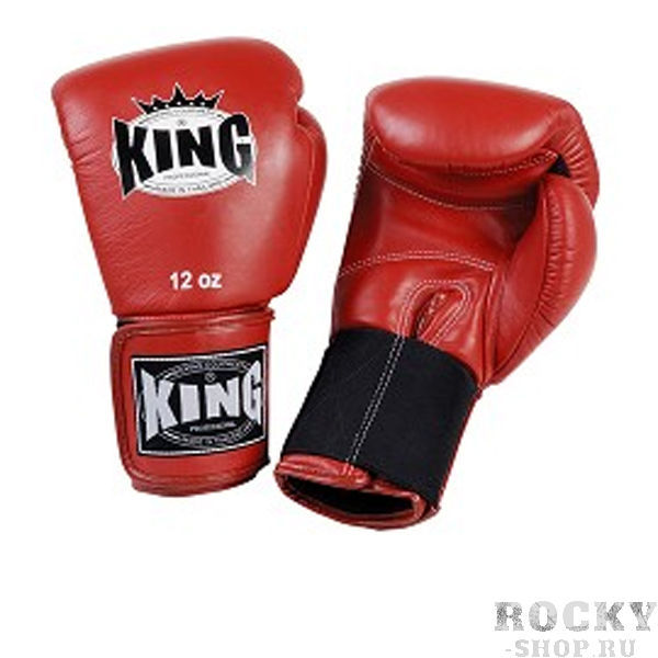 Купить Перчатки для тайского бокса тренировочные, липучка King 14 oz (арт. 13497)