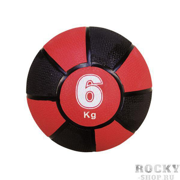 Купить Медицинбол 6 кг NC sports 24 см черно-красный (арт. 135)