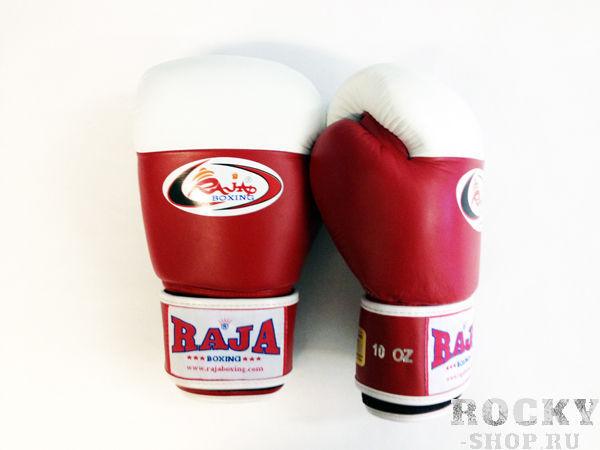 Перчатки для тайского бокса соревновательные, липучка, 12 унций RajaЭкипировка для тайского бокса<br>Как правило, используют в международном боксе. <br> Они располагают белый кончик, чтобы помочь судье тренировочного боя. <br> Отличное исполнение.<br><br>Цвет: красный/белый