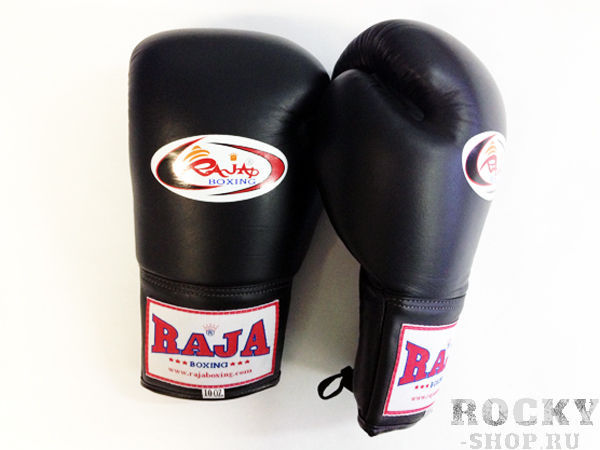 Купить Перчатки для тайского бокса соревновательные, шнурки Raja 8 унций (арт. 13502)