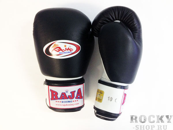 Купить Перчатки для тайского бокса тренировочные, липучка Raja 12 унций (арт. 13512)