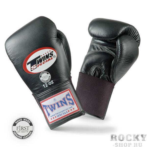 Перчатки для тайского бокса тренировочные на резинке, 12 унций Twins SpecialЭкипировка для тайского бокса<br>Материал – 100% кожа наивысшего качества<br> Крепление - резинка<br> Идеальное соотношение цена – качество<br> Ручная работа<br><br>Цвет: Черный