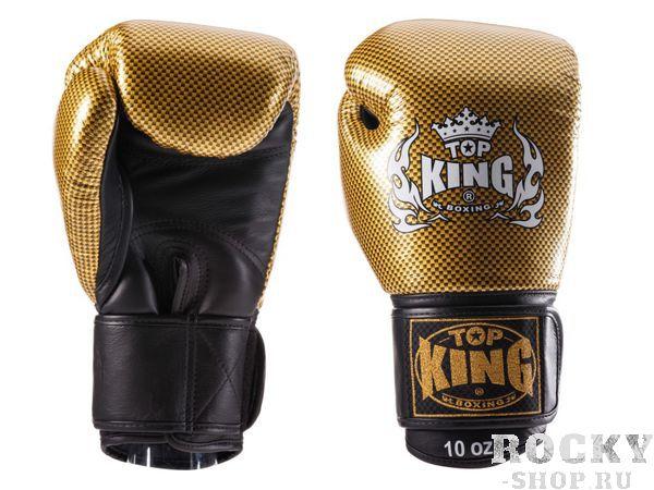 Перчатки для тайского бокса Top King Empower Creativity, 10 OZ Top KingЭкипировка для тайского бокса<br>Специально разработанные для повышения эффективности тренировок боксерские перчатки Top King Empower Creativity станут для вас эталоном экипировки, способной сохранить защитные качества и перевести на новый уровень понятие комфорта в контактных видах спорта. Все перчатки Top King производятся в Таиланде по американским чертежам и дизайнам, также, безусловно, перенимаются высокие стандарты американского производства, что делает эти перчатки одними из лучших на рынке.<br><br>Цвет: белый/золото