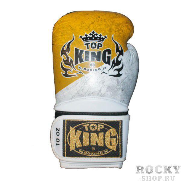 Перчатки для тайского бокса Ultimate Императорский флаг, 10 oz Top KingЭкипировка для тайского бокса<br>Перчатки боксерские Top King Ultimate в расцветках имперского флага — эксклюзивная модель компании Top King для российского рынка и настоящих патриотов. Это лимитированная версия классической серии перчаток для бокса Ultimate, которая идеально подходит как для тренировок, так и для профессиональных соревнований. Перчатки ручной работы, изготовлены из натуральной кожи. Обладают отличной амортизацией ударов за счет внутреннего наполнения пеной. Перчатки сделаны в Таиланде<br><br>Цвет: белый/желтый/черный