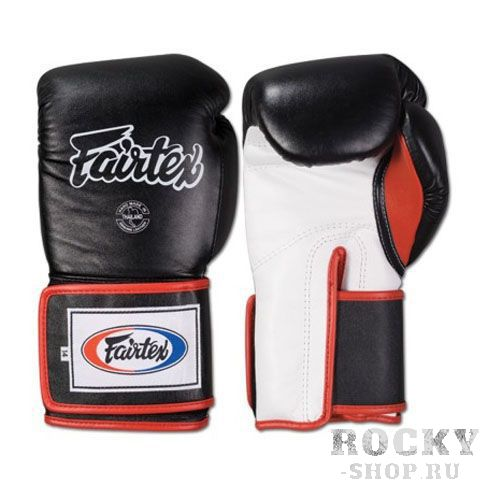 Перчатки для тайского бокса на липучке Fairtex, 14oz FairtexЭкипировка для тайского бокса<br>Перчатки BGV5 Pro Training Gloves - профессиональные, тренировочные перчатки.Отлично подходит для Кикбоксинга, Бокса и Муай Тай.Прекрасно подойдут для тренировочных спаррингов, выступления на соревнованиях, работы на мешках и на лапах.Перчатки ручной работы, выполнены из натуральной кожи.Особенностью этой модели является широкая липучка, она максимально защищает предплечье.Так же немного загнут большой палец, что позволяет сильнее сжимать кулак и наносить более сильные удары.Материал: кожаРазмер: 14oz.Цвет: черный.Производство: Таиланд.<br>