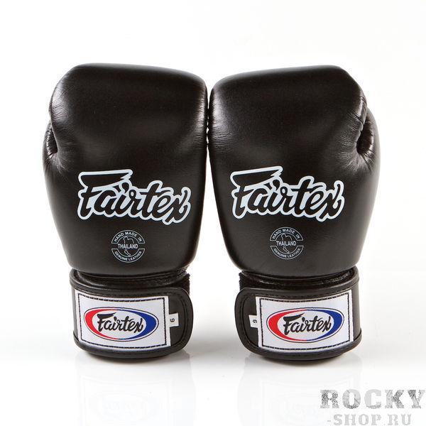 Перчатки для тайского бокса на липучке Fairtex, 6 oz FairtexЭкипировка для тайского бокса<br>Перчатки BGV1 - универсальные модель, которая идеально подходит для Кикбоксинга, Бокса и Муай Тай. Прекрасно подойдут для тренировочных спаррингов, выступления на соревнованиях, работы на мешках и на лапах. Перчатки ручной работы, выполнены из натуральной кожи. Обладают хорошей амортизацией ударов за счет внутреннего наполнения пеной. Производство: Таиланд. Цвет: синий, красный, черный. Материал: кожа. Размер: 6 oz<br><br>Цвет: Черный