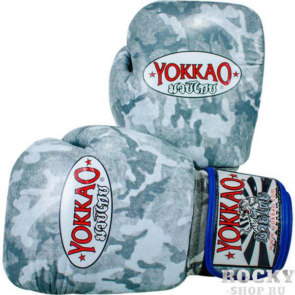 Купить Перчатки для тайского бокса Yokkao Green Army 12 oz (арт. 13601)