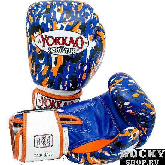 Перчатки для тайского бокса Yokkao Apache, 12 oz YokkaoЭкипировка для тайского бокса<br>Боксерские перчатки Yokkao Apache. Yokkao - один из лидеров по производству экипировки для тайского бокса. Данные перчатки подойдут и для работы на мешках, и на лапах, и для работы в самых жестких спаррингах. Внутри перчатки наполнены пеной, которая хорошо гасит силу ударов и не дает рукам травмироваться. Большой палец на перчатки зафиксирован. Данные перчатки для бокса выполнены из кожи КРС. Запястье надёжно фиксируется манжетой. Сделаны вручную в Таиланде.<br>