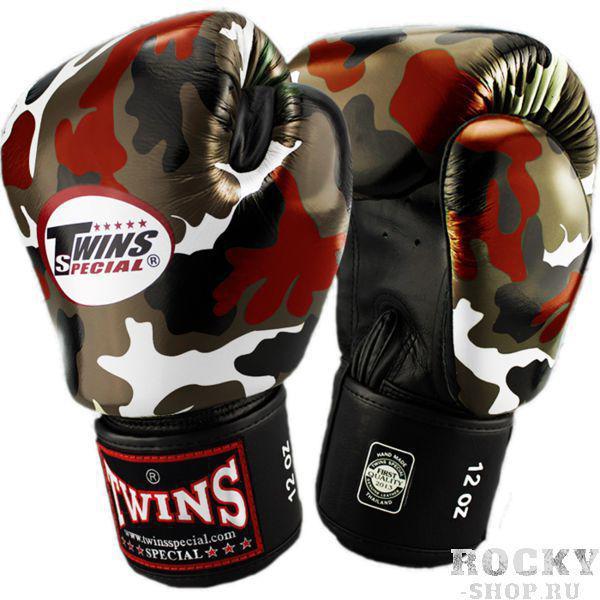 Купить Перчатки для тайского бокса Twins Special Camo 12 oz (арт. 13605)