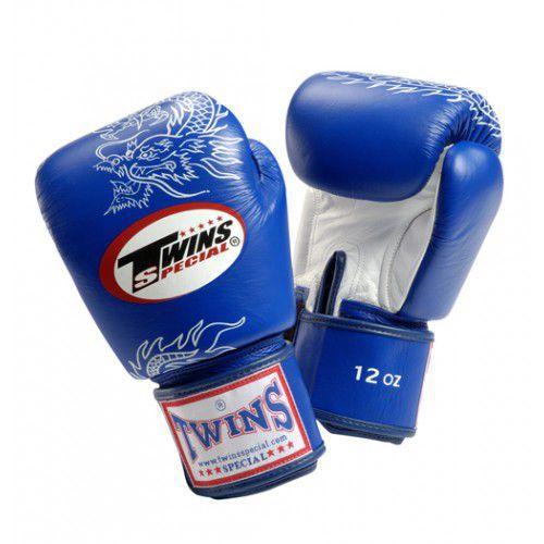 Купить Перчатки для тайского бокса тренировочные на липучке FBGV-6S, 8 унций Twins Special синие (арт. 13613)
