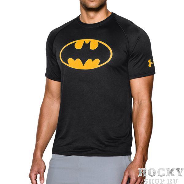 Тренировочная футболка Under Armour Batman Under ArmourФутболки<br>Тренировочная футболка Under Armour Batman. Тренировочная футболка выполнена на основе последних технологических достижений. Стретчевый материал не сковывает движения и обеспечивает комфорт во время тренировок любого уровня интенсивности. Неважно, какая погода на улице – она не помешает Вам сфокусироваться на тренировке. Отлично подойдет для тренировок такими видами спорта как: кроссфит, бокс, муай тай, работа с железом и т. д. . Свободный крой. Состав: 100% полиэстер.<br><br>Размер INT: M