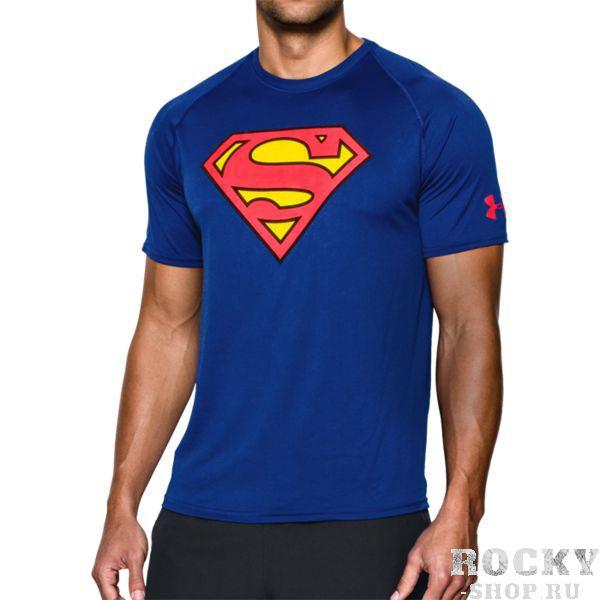 Тренировочная футболка Under Armour Superman Under ArmourФутболки<br>Тренировочная футболка Under Armour Superman. Тренировочная футболка выполнена на основе последних технологических достижений. Стретчевый материал не сковывает движения и обеспечивает комфорт во время тренировок любого уровня интенсивности. Неважно, какая погода на улице – она не помешает Вам сфокусироваться на тренировке. Отлично подойдет для тренировок такими видами спорта как: кроссфит, бокс, муай тай, работа с железом и т. д. . Свободный крой. Состав: 100% полиэстер.<br><br>Размер INT: M