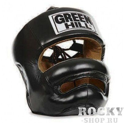 Шлем для тайского бокса Green Hill professional, Черный Green Hill