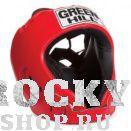 Шлем для тайского бокса ALFA , Красный Green HillЭкипировка для тайского бокса<br>Материал: Искусственная кожаВиды спорта: БоксШлем сделан из высококачественной искусственной кожи. Двойная система крепления позволит надежно зафиксировать шлем.Подходит как для тренировок, так и для соревнований.Размер:При подборе шлема следует также учесть, что размеры шлемов можно регулировать за счет специальных застежек.Для выбора шлемов, ориентируйтесь на следующие данные:охват головы - размер48-53 см - S54-56 см - М57-60 см – L61-63 см - XL<br>