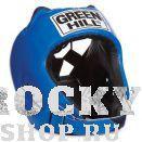 Шлем для тайского бокса ALFA , Синий Green HillЭкипировка для тайского бокса<br>Материал: Искусственная кожаВиды спорта: БоксШлем сделан из высококачественной искусственной кожи. Двойная система крепления позволит надежно зафиксировать шлем. Подходит как для тренировок, так и для соревнований. Размер:При подборе шлема следует также учесть, что размеры шлемов можно регулировать за счет специальных застежек. Для выбора шлемов, ориентируйтесь на следующие данные:охват головы - размер48-53 см - S54-56 см - М57-60 см – L61-63 см - XL<br><br>Размер: L