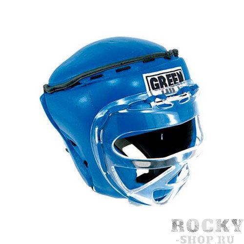 Шлем для тайского бокса SAFE, Синий Green HillЭкипировка для тайского бокса<br>Материал: Натуральная кожаВиды спорта: БоксБоевой и тренировочный шлем. Сделан из высококачественной натуральной кожи. Усиленная защита в области ушей, и подбородка. Лицо защищает пластиковая маска. Размер:При подборе шлема следует также учесть, что размеры шлемов можно регулировать за счет специальных застежек. Для выбора шлемов, ориентируйтесь на следующие данные:охват головы - размер48-53 см - S54-56 см - М57-60 см – L61-63 см - XL<br><br>Размер: XL