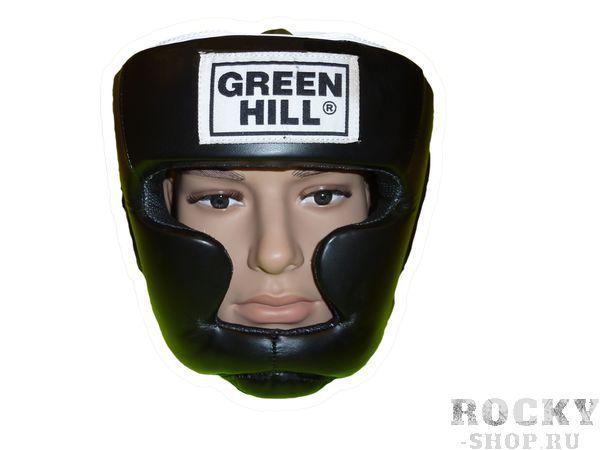 Шлем для тайского бокса WARRIOR, Черный Green HillЭкипировка для тайского бокса<br>Материал: Искусственная кожаВиды спорта: БоксШлем пошит из искусственной кожи. Предназначен для тренировок и соревнований. Двойная система крепления на липучке. С защитой теменной области, скул и подбородка.Размер:При подборе шлема следует также учесть, что размеры шлемов можно регулировать за счет специальных застежек.Для выбора шлемов, ориентируйтесь на следующие данные:охват головы - размер48-53 см - S54-56 см - М57-60 см – L61-63 см - XL<br><br>Размер: L