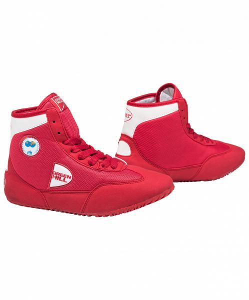 Борцовки Green Hill gwb-3052, красно-белые Green HillЭкипировка для Борьбы<br>Обувь для борьбы GWB-3052- это борцовки от популярного бренда Green Hill. Благодаря удлиненной голени инадежной шнуровке такая обувь обеспечивает спортсмену комфорт иуверенность наковре.<br><br>Размер: 38