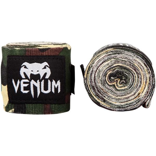 Бинты боксерские Venum Kontact Forest Camo, 2,5 метра VenumБоксерские бинты<br>Бинты боксерские Venum Kontact 2,5m - Forest Camo - классические эластиные бинты в цветовом исполнении камуфляж.Эластичный хлопок на липучке.Продается в парах.<br>