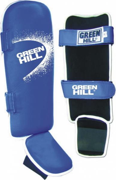 Защита голени Green Hill fighter, Размер XL Green HillЗащита тела<br>Полноценная, усиленная защита голени для тайского бокса, кикбоксинга, карате. Натуральная кожа. Размер XL.<br><br>Цвет: Синяя
