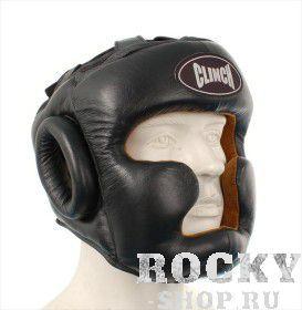 Купить Шлем боксерский с подбородком Clinch Gear черный (арт. 13955)