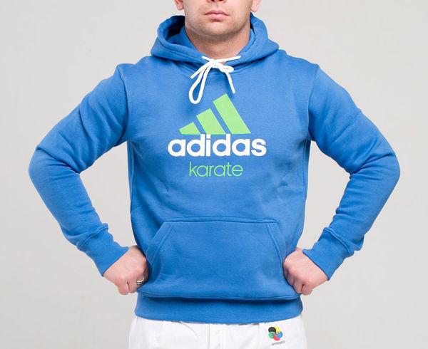 Толстовка с капюшоном (Худи) Community Hoody Karate сине-зеленая AdidasТолстовки / Олимпийки<br><br><br>Размер INT: L