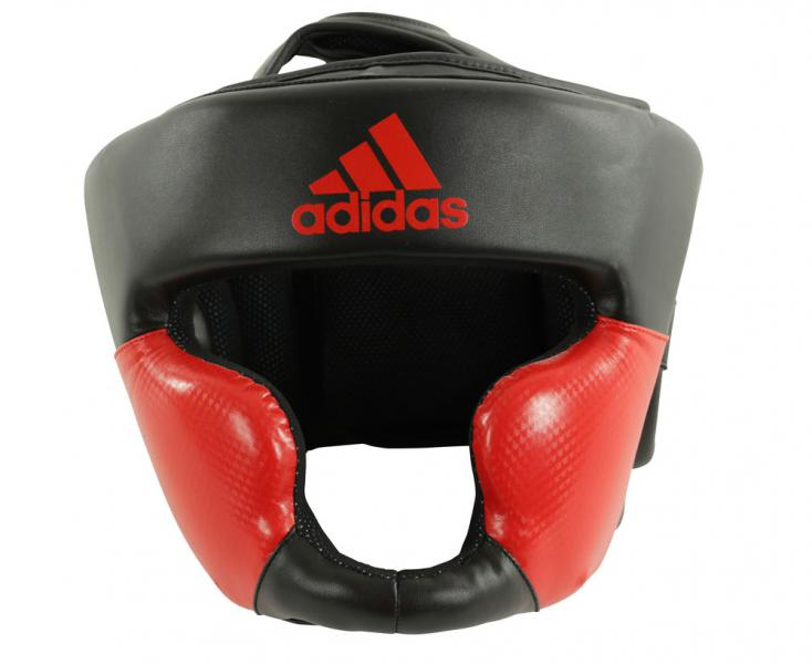 Шлем боксерский Response Standard Head Guard черно-красный Adidas