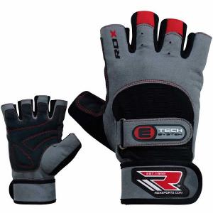 Перчатки атлетические RDX Gym Double Strap Grey/Red RDX