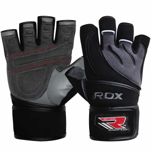 Перчатки атлетические RDX Leather Gym Workout (арт. 14147)  - купить со скидкой