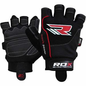 Перчатки атлетические RDX Gym Workout Amara Red/Black RDXПерчатки для фитнеса<br><br>