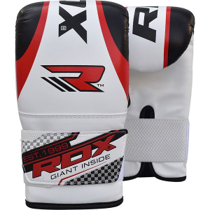 Снарядные перчатки RDX Bag Mitts Gel Red RDXCнарядные перчатки<br>Снарядные перчатки RDX Bag Mitts Gel Red сделаны из прочных высококачественных материалов и имеют уникальный изогнутый дизайн, соответствующий анатомической форме руки. Крепкие швы также способствуют долговечности перчаток. Внутренний прочный слой из пены защищает руки, прекрасно амортизируя удары. Широкая регулируемая манжета надежно и крепко фиксирует Ваше запястье. Перчатки оснащены перфорированными вентиляционными отверстиями, благодаря чему перчатки дышат и не создают дискомфорта для рук. Состав: экокожа, гель Shell Shock™.<br>