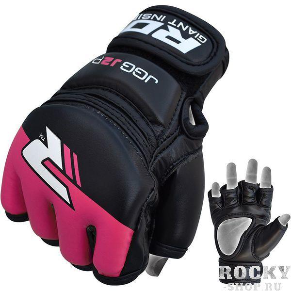Купить Детские перчатки для MMA RDX Grappling Kids Black/Pink WR594 (арт. 14169)