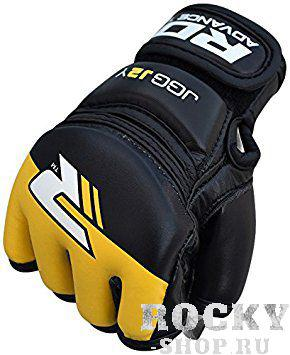 Купить Детские перчатки для MMA RDX Grappling Kids Black/Yellow (арт. 14171)