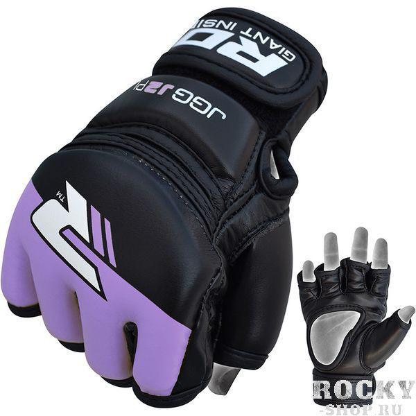 Купить Детские перчатки для MMA RDX Grappling Kids Black/Purple (арт. 14172)