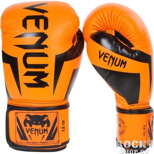 Перчатки боксерские Venum Elite Neo Orange, 12 унций VenumБоксерские перчатки<br>Перчатки боксерские Venum Elite Neo Orange изготовлены вручную из синтетической кожи Skintex – качество на высоте. Трехуровневая пена гасит ударную волну всякий раз, когда Вы делаете удар. Уникальный дизайн и цвет подходит для бойцов любого уровня. Усиленные швы и сетчатые панели в сочетании с эргономичной формой обеспечивают удобную посадку руки, создается ощущение, что перчатка и рука – единое целое. Оппонент будет чувствовать на себе элитную силу Ваших ударов. Особенности:Премиум кожа SkintexСетчатая панель под внутренней частью ладони для лучшей терморегуляцииТрехслойная внутренняя пенаУсиленная ладоньБольшой палец прилегает на 100%, что сокращает риск травматизмаУкрепленные швыШирокая эластичная липучка-застежкаДлинные манжеты для лучшей защиты запястьяРучная работа, Тайланд<br>