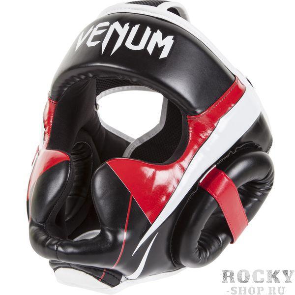 Шлем боксерский Venum Elite Headgear 100% Premium Leather VenumЭкипировка для тайского бокса<br>Элитные бойцы заслуживают самую высококлассную защиту и самые передовые разработки в области экипировки для единоборств, чтобы продолжать совершенствовать свое мастерство. &amp;nbsp;Шлем Venum Elite - как раз представитель экипировки такого уровня. Он сделан из премиумной синтетической кожи Skintex в Тайланде вручную и уже зарекомендовал себя как очень прочный шлем с трехслойной пеной для лучшего отвода ударной волны. Его конструкция такова, что Вам обеспечены полная защита головы и 180-градусный обзор. &amp;nbsp;Элитный боец всегда на пути к новым успехам!Характеристики:очень прочная высококачественная синтетическая кожа Skintex для выступлений на самом высоком уровнесверхлегкийспецуиальная конструкция обеспечивает полную защиту и обзор на 180 градусовтрехслойная пена для лучшей амортизациизащита ушейсетчатые панели для вывода влагидвухполосная система застегиванияодин размер - подойдет всемТайланд, ручная работа<br><br>Размер: Без размера