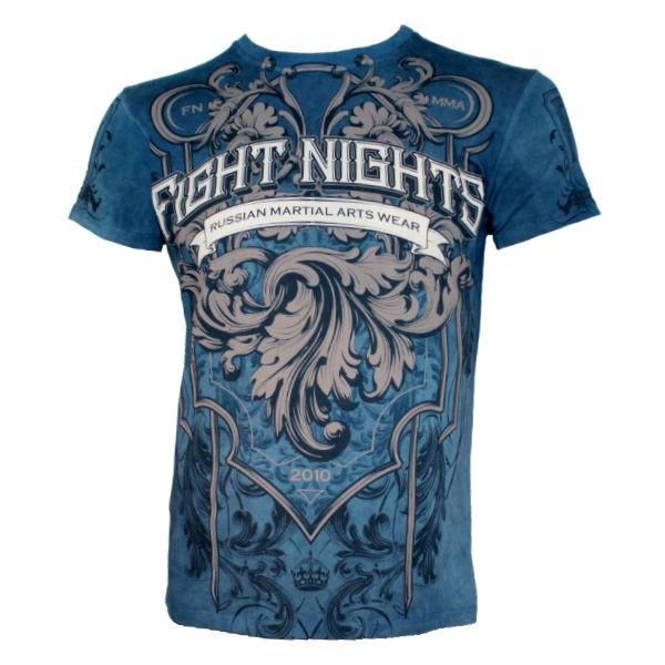 Купить Футболка Fight Nights Russian Martial Arts темно-синяя (арт. 14209)